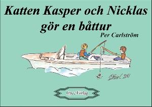Katten Kasper och Nicklas åker båt